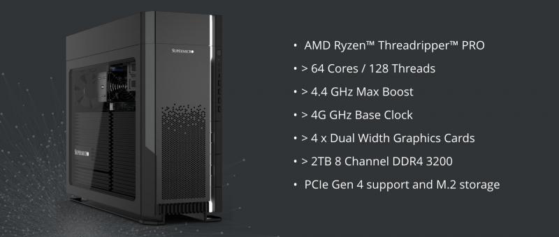 Supermicro launch their AMD RYZEN™ THREADRIPPER™ PRO workstation