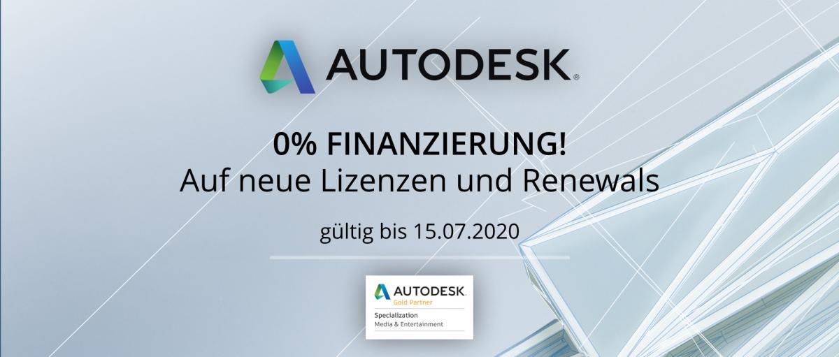 Autodesk 0% Finanzierung