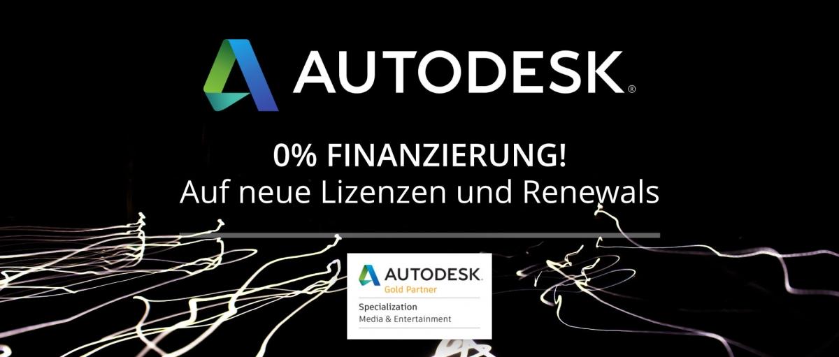 Autodesk 0% Finanzierung auf 3-Jahres Lizenzen