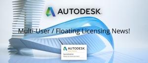 Autodesk Abkündigung Multi-User / Netzwerk Lizenzen